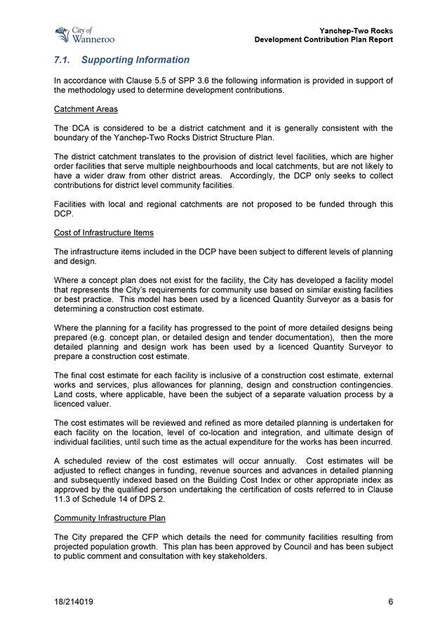 Agenda Of Ordinary Council Meeting 13 November 2018