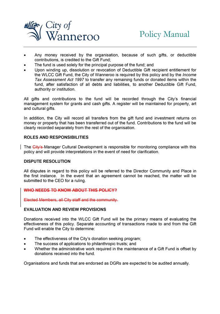 Agenda of Ordinary Council Meeting - 30 00 2019